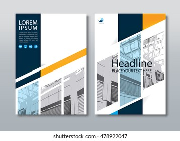 Annual report brochure flyer design template vector, Leaflet cover presentation abstract flat background, book cover templates, layout in A4 size