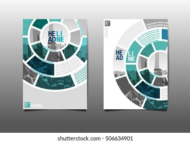 annual report brochure flyer design template vector, Leaflet cover presentation abstract flat background.