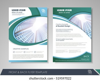 Annual report brochure flyer design template. Leaflet cover presentation abstract background for business, magazines, posters, booklets, banners. Layout in A4 size. Easily editable vector format.