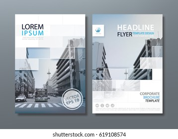 Annual report brochure flyer design template vector, Leaflet cover presentation, book cover templates.