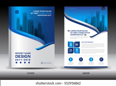 Annual report brochure flyer template, white cover design, business flyer template, advertisement, infographics vector layout in a4 size