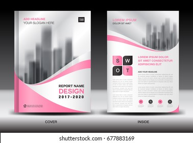 set business cover design template brochure stock vector royalty