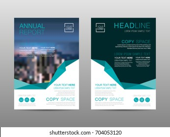Annual report brochure layout design template, Leaflet advertising, poster, magazine, Business Financial for background, Empty copy space, Flat style vector illustration artwork A4 size.