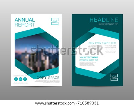 annual report brochure layout design template stock vector royalty