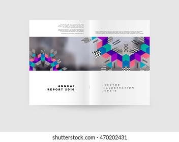 Dna Molecule Vector Brochure Template Flyer Stock Vector Royalty