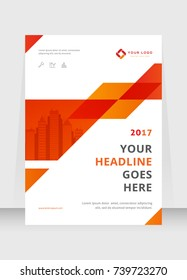 Annual report, broshure, flyer, magazine abstract background, red cover, size template A4. Corporate Presentation, Poster, Website, Portfolio, Banner, Color Book
