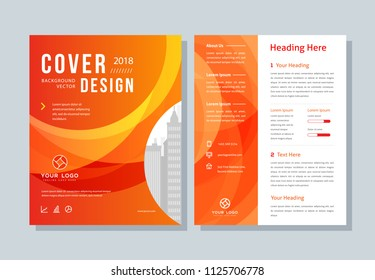 Annual report, business broshure, flyer, magazine abstract background, red cover, size template A4. Corporate Presentation, Banner, Color Book
