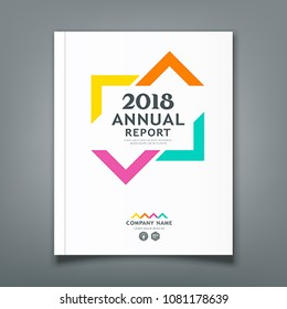 Annual Report colorful triangle design background, vector illustration