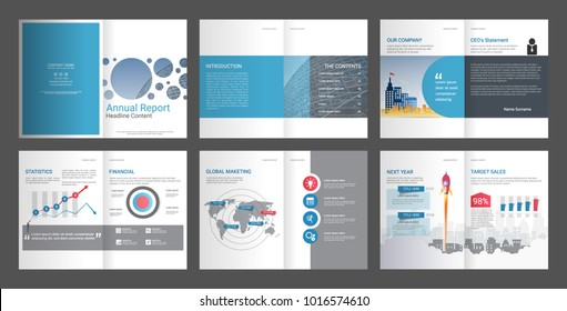 Annual report for company profile & advertising agency brochure, Suitable for professional introduction of the business and aims to inform the audience about its products and services.