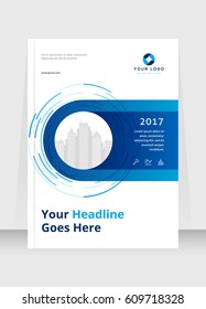 Annual report, cover design abstract background, Magazine, blue color broshure, template A4. Book, Corporate Presentation, Poster, Website, Flyer, Portfolio, Banner