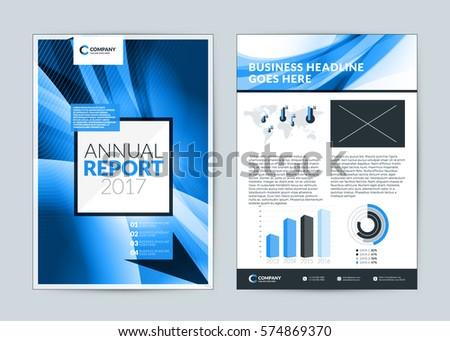 annual report cover design template vector のベクター画像素材