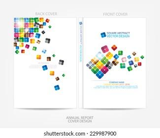 Annual report cover multicolor design
