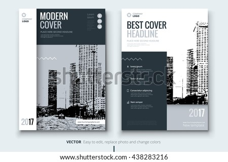 annual report cover page design corporate stock vector royalty free