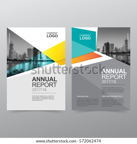 annual report covers flyer presentation brochure stock vector