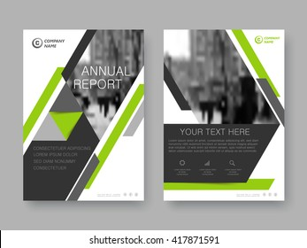 Annual report, flyer, brochure. Front page and back page, book cover layout design. Design layout template in A4 size .