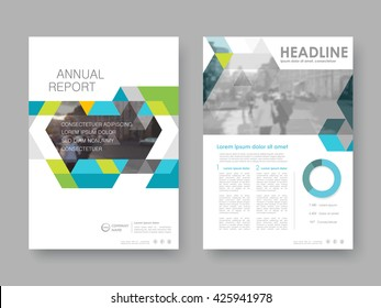Annual report, flyer, presentation, brochure. Front page report , book cover layout design. Design layout template in A4 size . Abstract colored cover templates