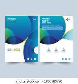 Annual Report Layout  Template 2021