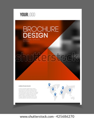 Annual Report Leaflet Brochure Flyer Template Stock Vector Royalty