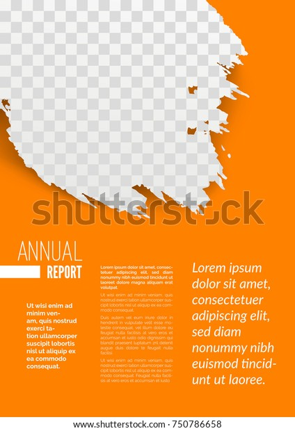 Annual Report Sample Page Design Mockup Stock Vector Royalty Free