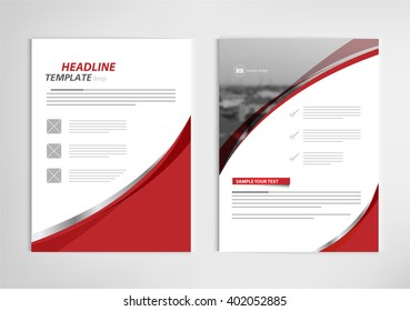 annual report template design, book cover layout design vector