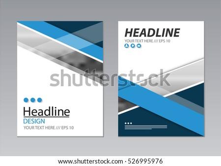 annual report template design book cover のベクター画像素材