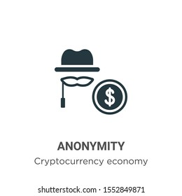 Anonymity vector icon on white background. Flat vector anonymity icon symbol sign from modern blockchain collection for mobile concept and web apps design.