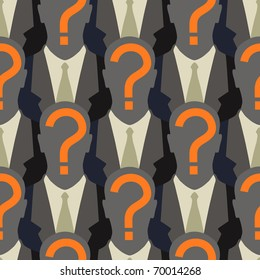Anonymity in the web - seamless pattern