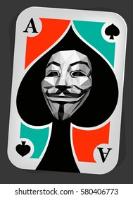 Anonymous Ace Playing Card