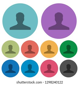 Anonymous avatar darker flat icons on color round background