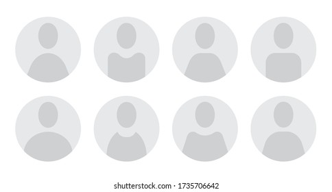 Anonymous generic user icons. Vector illustration.