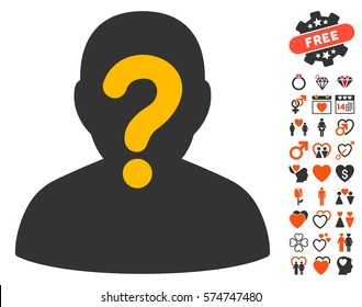 Anonymous icon with bonus amour pictograph collection. Vector illustration style is flat iconic elements for web design, app user interfaces.
