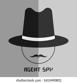 Anonymous Spy Agent Vector Icon. Invisible Man Vector Illustration