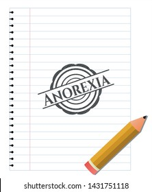 Anorexia penciled. Vector Illustration. Detailed.
