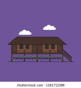 Another traditional house in Malaysia, it is Rumah Panjang