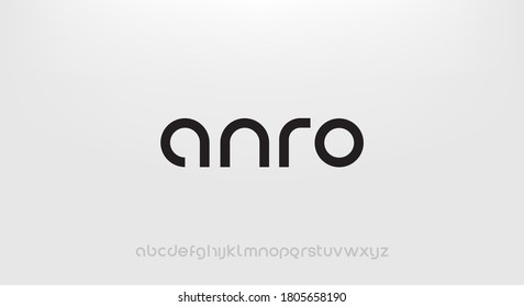 Anro, Abstract technology science alphabet lowercase font. digital space typography vector illustration design - Shutterstock ID 1805658190