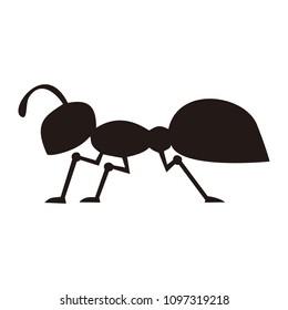 ant animals vector logo
