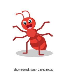 ้Happy ant cartoon art vector