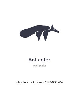 ant eater icon. isolated ant eater icon vector illustration from animals collection. editable sing symbol can be use for web site and mobile app