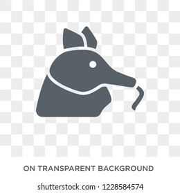 Ant eater icon. Trendy flat vector Ant eater icon on transparent background from animals  collection.