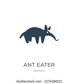 ant eater icon vector on white background, ant eater trendy filled icons from Animals  collection, ant eater vector illustration