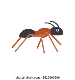 Ant icon in flat style, african animal vector illustration