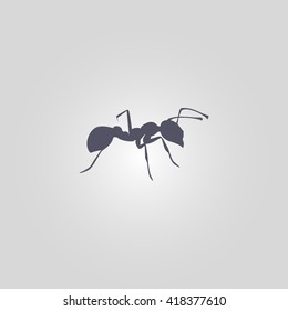 ant icon. insect sign