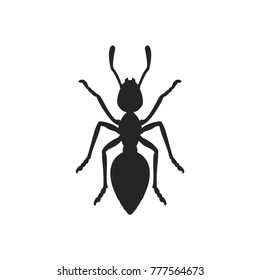 Ant icon, insect symbol. Animal pictogram, flat vector sign isolated on white background. Simple vector illustration for graphic and web design.