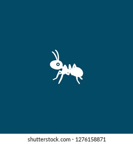 ant icon . ant icon on blue background