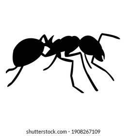 ant icon silhouette shadow perfect