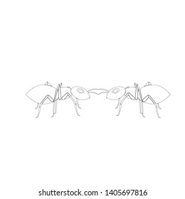 Ant  Logo template vector illustration design - Vector
