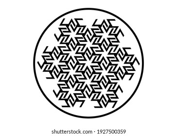 Antahkarana Mandala ancient symbol of Healing and Meditation, used in Tibet and China. Sacred Geometry, mystic sign for Reiki, Radionics, beneficial effects on the chakras, healing energies. Isolated