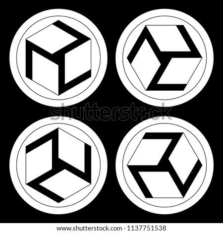 Antahkarana Symbols Male Female Yin Yang Stock Vector Royalty Free