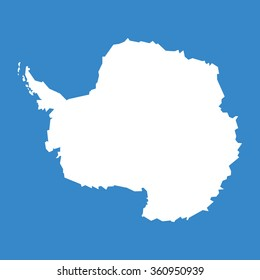 Antarctic continent highly detailed map. Vector.