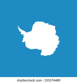 Antarctic continent highly detailed. Vector
